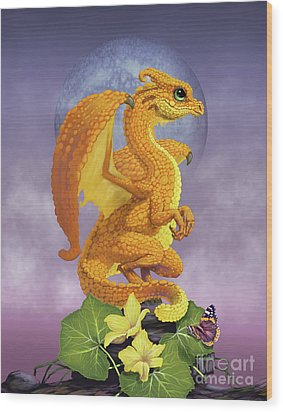 Squash Dragon Wood Print by Stanley Morrison