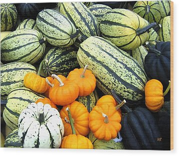 Squash Harvest Wood Print by Will Borden