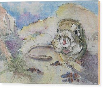 Squiggy Wood Print by Gina Hall