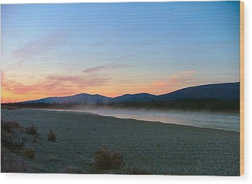 Wood Print featuring the photograph Squirell River In The Morning by Adam Owen