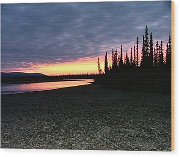 Wood Print featuring the photograph Squirell River Sunset by Adam Owen