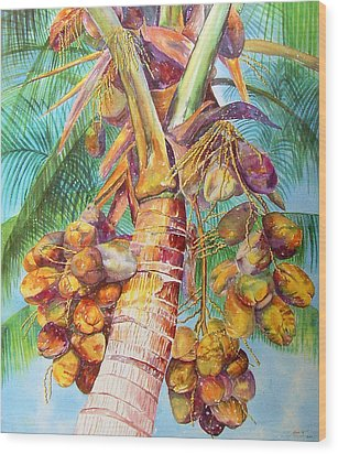Squire's Coconuts Wood Print by AnnaJo Vahle