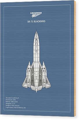 Sr-71 Blackbird Wood Print by Mark Rogan