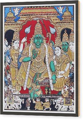 Sri Ramar Pattabhishekam Wood Print