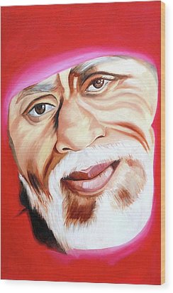 Sri Shirdi Sai Baba  Wood Print by Kalpana Gandhi