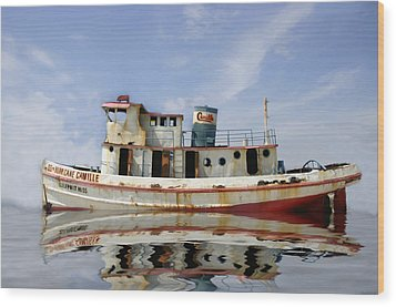 Ss Hurricane Camille Wood Print by Shelly Stallings