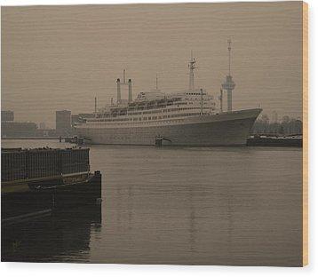 Ss Rotterdam Holland America Line Wood Print by Nop Briex