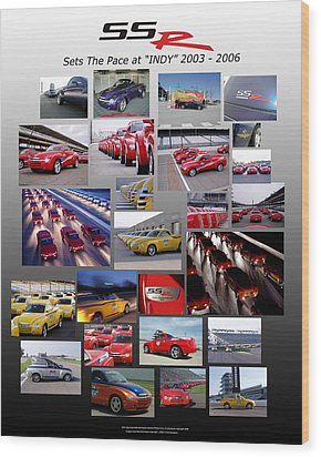Ssr Sets The Pace 2003-2006 Wood Print by Howard Kirchenbauer
