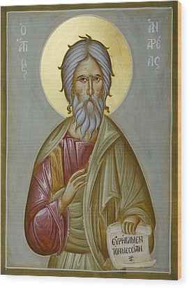 St Andrew The Apostle And First-called Wood Print by Julia Bridget Hayes
