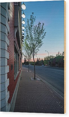 Wood Print featuring the photograph St. Anne Street At Dusk by Darcy Michaelchuk