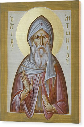 St Anthony The Great Wood Print by Julia Bridget Hayes