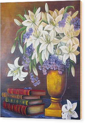 St. Anthony's Lilies Wood Print by Katia Aho
