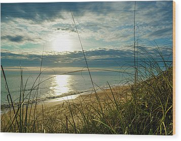 St Aug Sunrise Wood Print