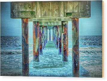 Wood Print featuring the photograph St. Augustine Beach by Louis Ferreira