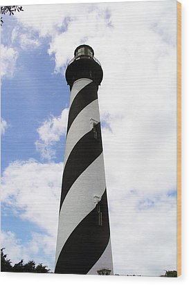 St. Augustine Light Wood Print by Allan  Hughes