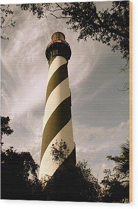 St. Augustine Light House Wood Print by Kimberly Camacho