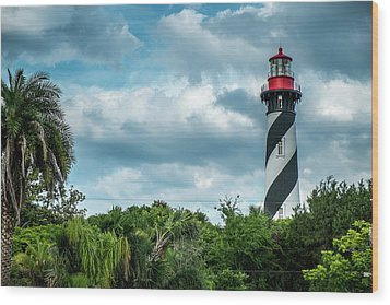 Wood Print featuring the photograph St. Augustine Lighthouse by Louis Ferreira