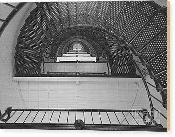 St. Augustine Lighthouse Spiral Staircase IIi Wood Print by Clarence Holmes
