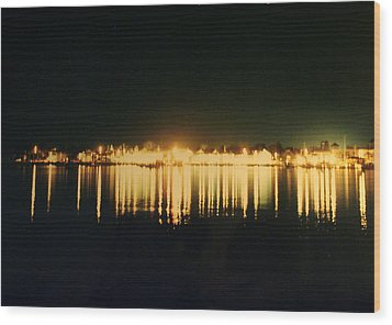 St. Augustine Lights Wood Print