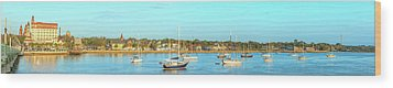 Wood Print featuring the photograph St Augustine Panorama by Sebastian Musial