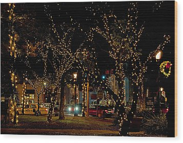 St. Augustinelights3 Wood Print