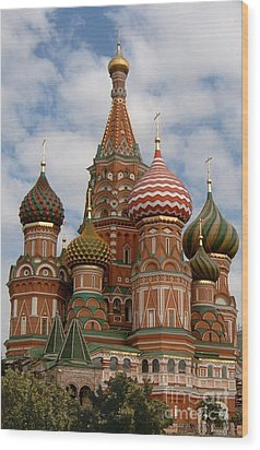 St. Basil's Cathedral Wood Print by Robert D McBain