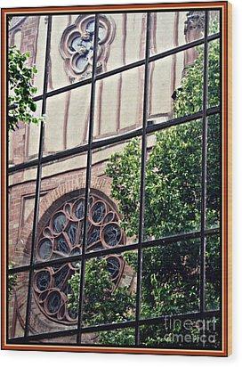 St Boniface Church In Reflection  Wood Print by Sarah Loft
