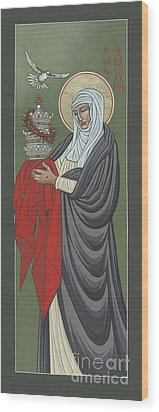 Wood Print featuring the painting St Catherine Of Siena- Guardian Of The Papacy 288 by William Hart McNichols