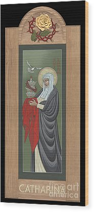Wood Print featuring the painting St Catherine Of Siena With Frame by William Hart McNichols
