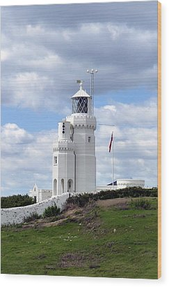 Wood Print featuring the photograph St. Catherine's Lighthouse On The Isle Of Wight by Carla Parris
