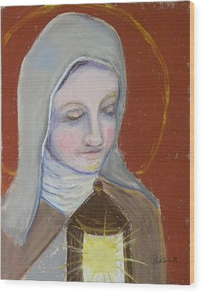 St. Clare Of Assisi II Wood Print by Susan  Clark