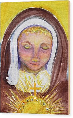 St. Clare Wood Print by Susan  Clark