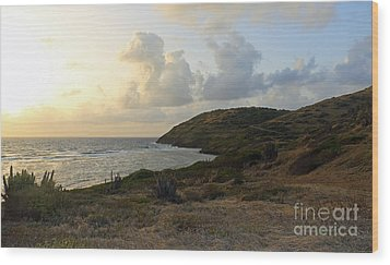 St. Croix Sunrise  Wood Print by Mary Haber