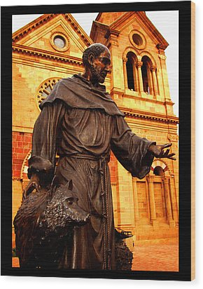 Cathedral Basilica Of St. Francis Of Assisi Wood Print by Susanne Still