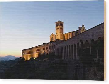St Francis Assisi At Sundown Wood Print by Jon Berghoff