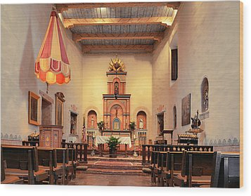 Wood Print featuring the photograph St Francis Chapel At Mission San Diego by Christine Till