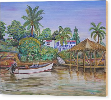 St. George Harbor Wood Print by Patricia Piffath