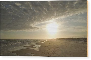 St George Island Sunset I Wood Print by Peg Toliver