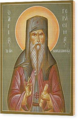 St Gerasimos Of Kefalonia Wood Print by Julia Bridget Hayes