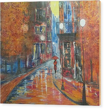 St Germaine Paris Wood Print by Judi Goodwin