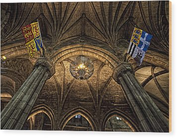 St. Giles Cathedral Wood Print by Jim Dohms