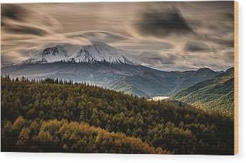 Wood Print featuring the photograph St. Helens Wrath by Dan Mihai