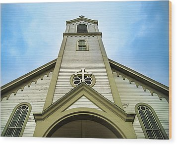 Wood Print featuring the photograph St. Ignatius Of Loyola Church And Cemetary by Onyonet  Photo Studios