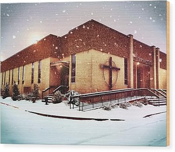 St. Isaac Jogues In The Snow Wood Print