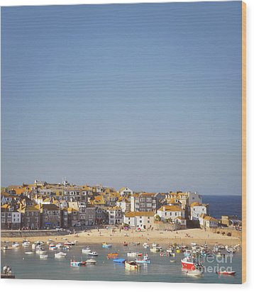 Wood Print featuring the photograph St Ives Harbour by Lyn Randle
