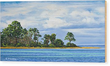 St. Joe Wood Print by Rick McKinney