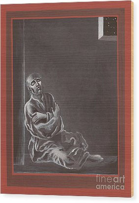 Wood Print featuring the painting  St John Of The Cross In The Dark Night Of The Soul 290 by William Hart McNichols