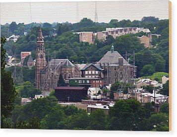 St John The Baptist Church Manayunk Philadelphia Wood Print by Bill Cannon