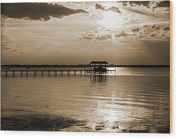 St. Johns River Wood Print by Anthony Baatz