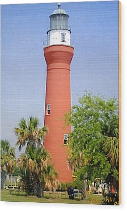 Wood Print featuring the photograph St Johns River Lighthouse by Frederic Kohli